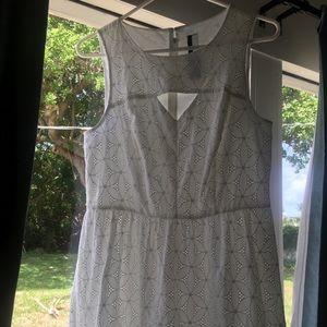 Kensie Dresses - Kenzie white eyelet sundress sleeveless summer